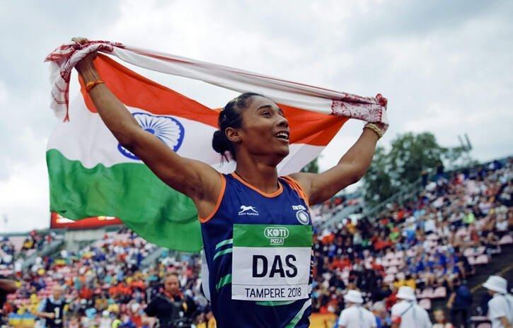 Hima Das wins five gold medals