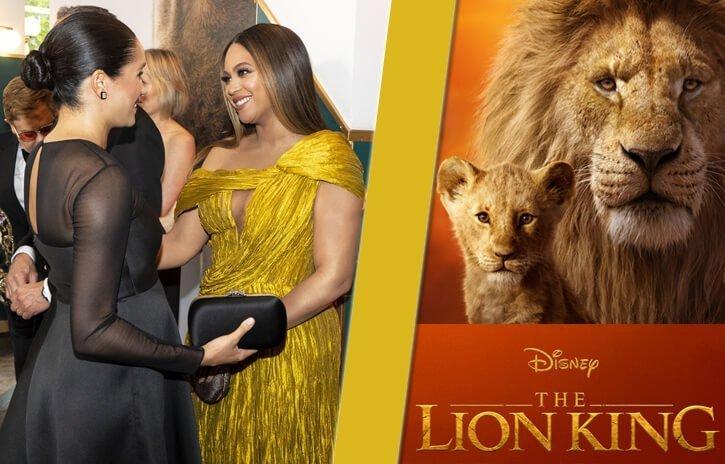 Meghan met Beyonce at The Lion King