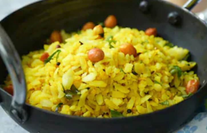 Flattened Rice Pilaf Recipe