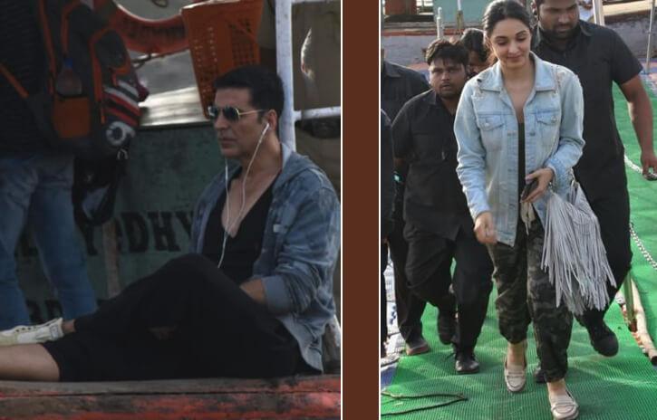 Kiara Advani and Akshay Kumar spotted riding the Madh Jetty