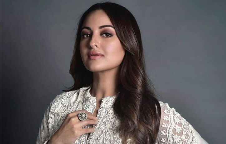 Sonakshi Sinha White Outfit