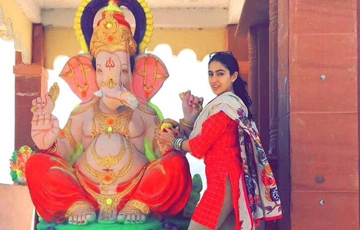 sara ali khan Ganesh Chaturthi