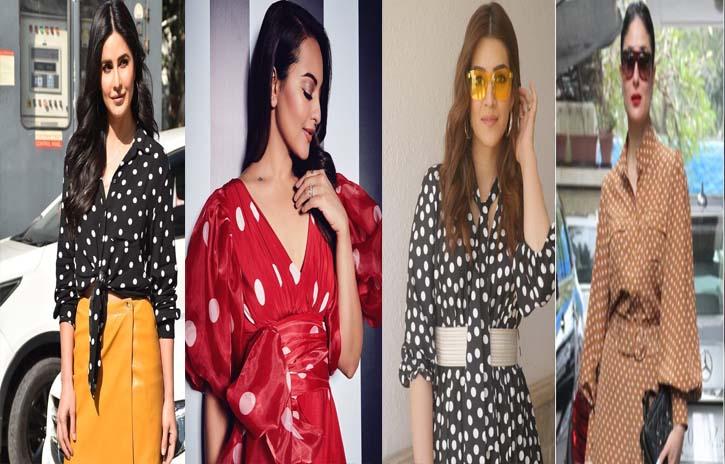 Bollywood beauties in polka dot prints