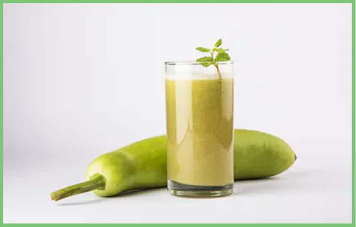 bottle gourd or lauki juice