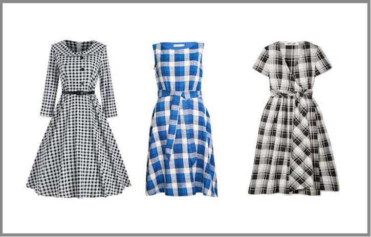 checked maxi dresses