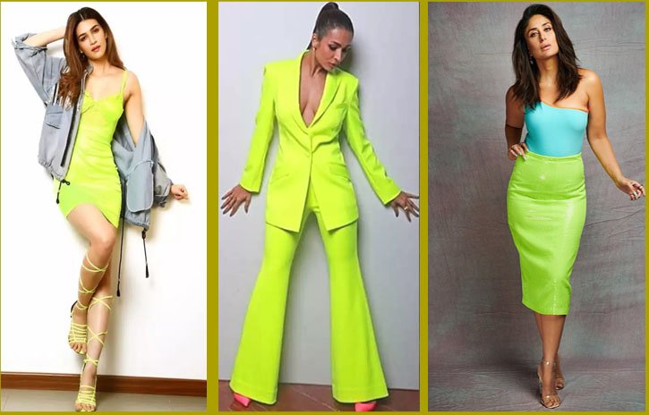 Bollywood celebs in bright green outfits